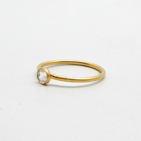 Crystal Dot Ring | Semi Precious Jewellery | 22 Carat Gold Plated | An Indian Summer