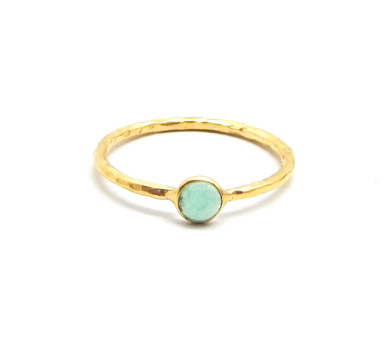 Aqua Chalcedony Dot Ring - An Indian Summer