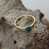 Turquoise Dot Ring - an indian summer