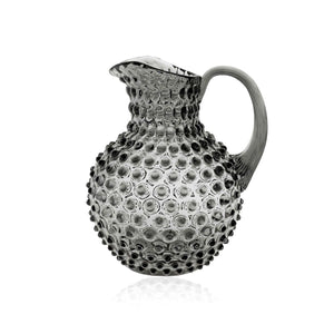 An Indian Summer Crystal Hobnail Jug Grey Smoke | An Indian Summer | Seasonless Timeless Sustainable Ethical Authentic Artisan Conscious Clothing Lifestyle Brand