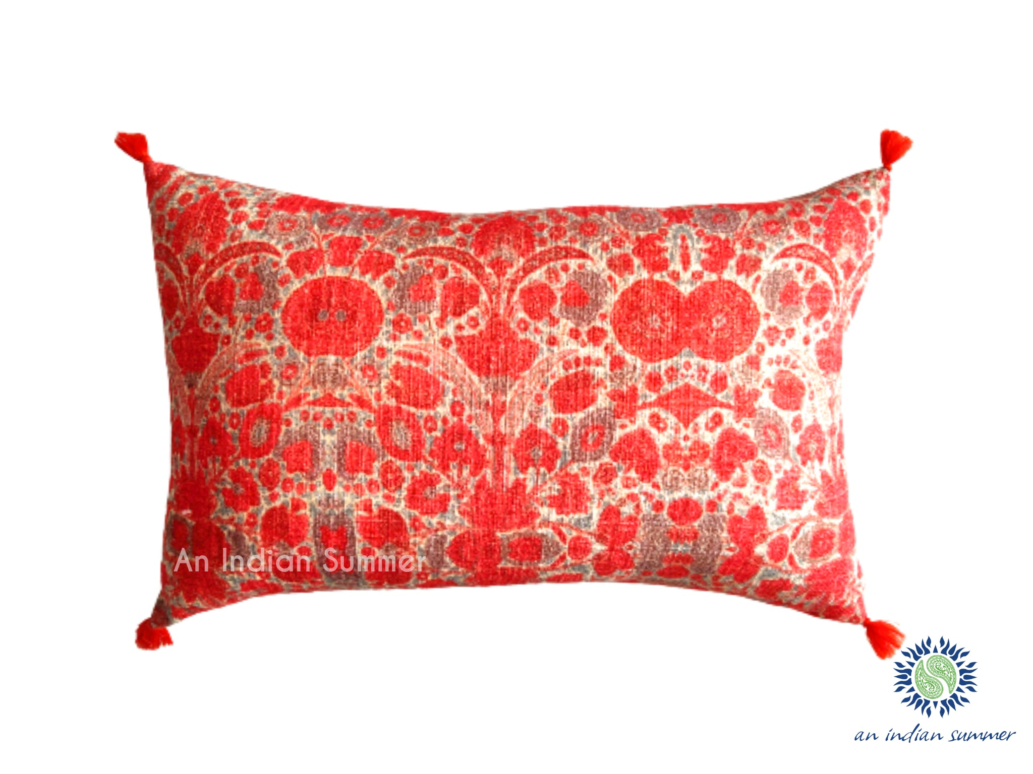 Floral Cushion Khadi Cotton Handloom Woven | An Indian Summer | Seasonless Timeless Sustainable Ethical Authentic Artisan Conscious Clothing Lifestyle Brand
