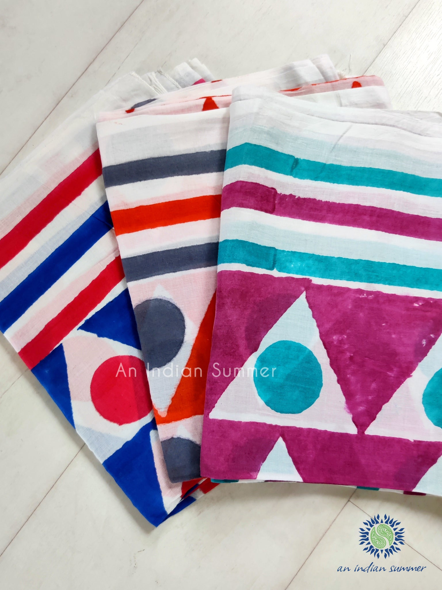 **Special Offer** Set of 3 Geometric Sarongs