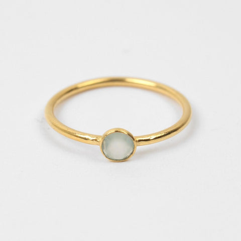 White Chalcedony Dot Ring - An Indian Summer