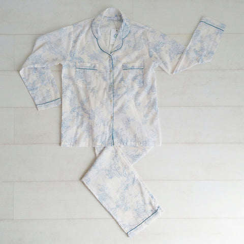 Toile Print Pyjama Set - Blue