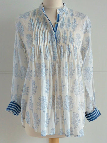 Anandi Top - Blue - An Indian Summer