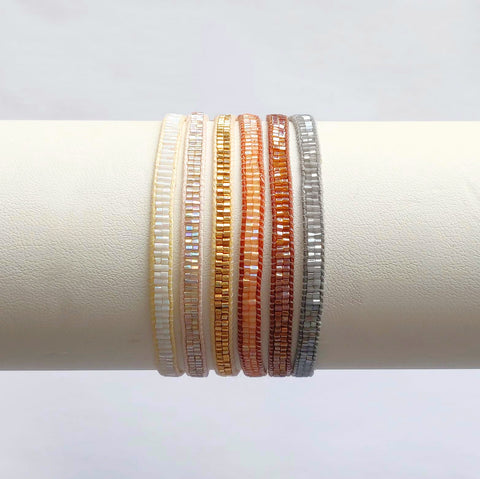 Boho Stacking Bracelets - Neutrals