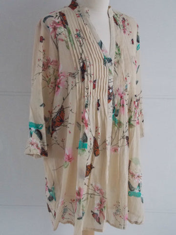 Fauna Tunic - Beige - An Indian Summer