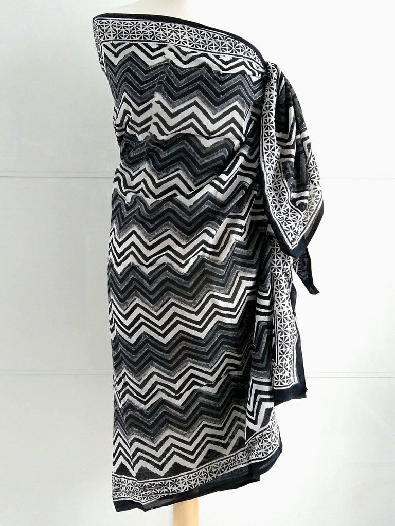 Chevron Sarong - Natural Dye - An Indian Summer