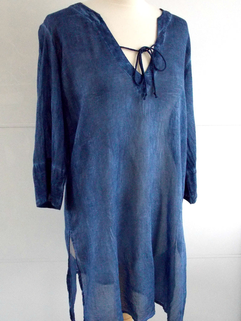 Indigo Blue Tunic | Cotton | An Indian Summer