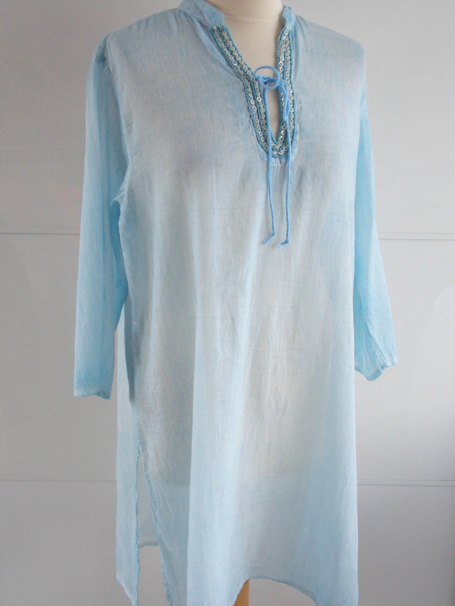 Pale Blue Tunic - An Indian Summer