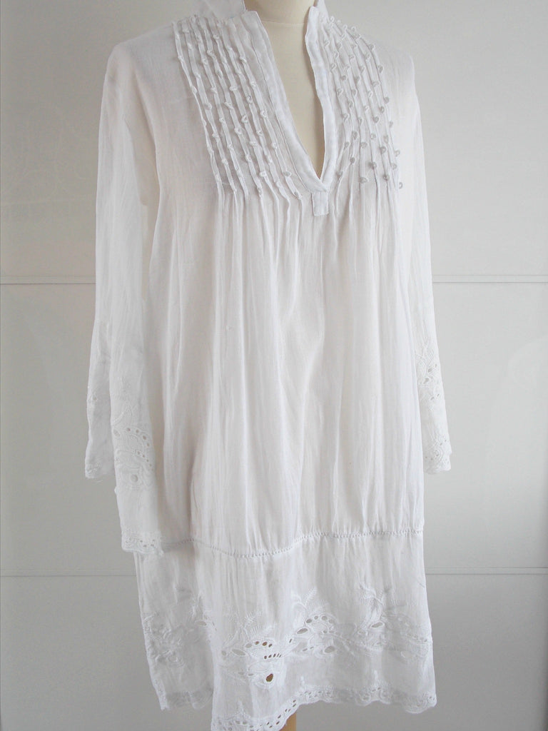 Persephone Tunic White | Lace Cut Out | Cotton | An Indian Summer