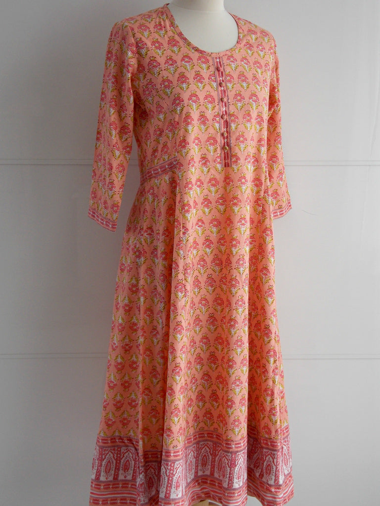 Aurora Dress - Papaya - An Indian Summer