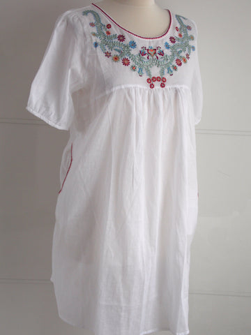 Blossom Embroidered Tunic