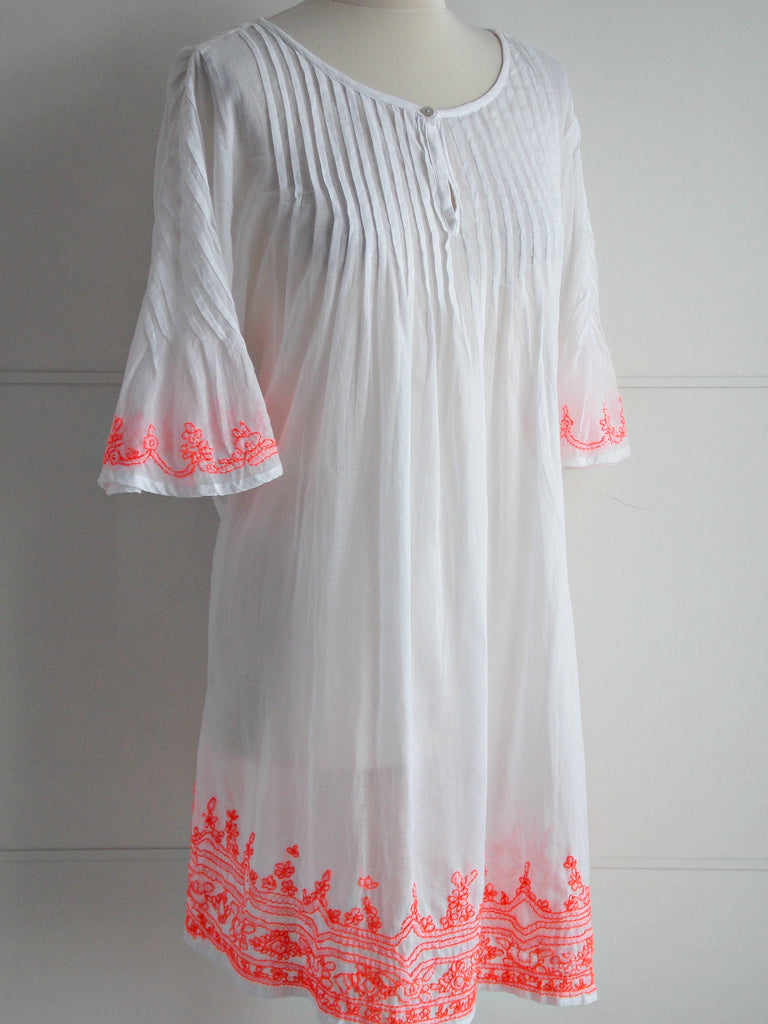 Ibiza Neon Embroidery Tunic - Cotton - An Indian Summer