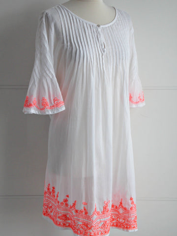 Ibiza Neon Embroidery Tunic