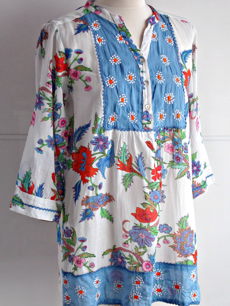 Isla Embroidered Tunic - An Indian Summer