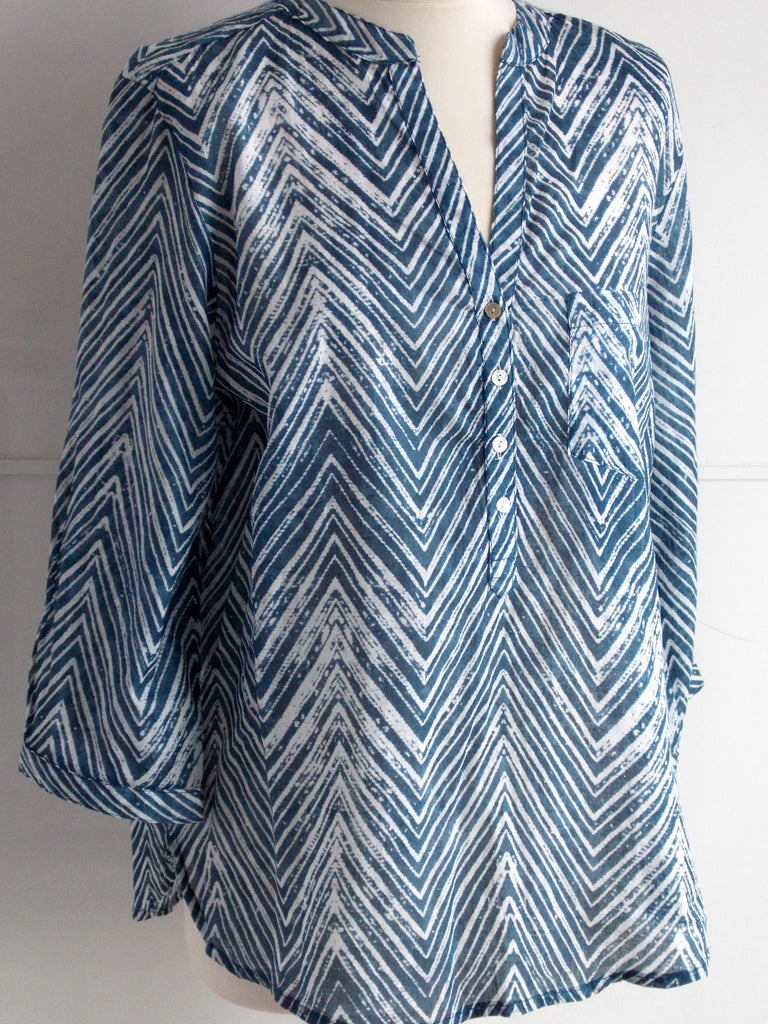 Chevron Top Blue | Cotton | An Indian Summer