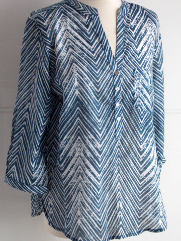Chevron Top - Available in Plus Sizes - An Indian Summer