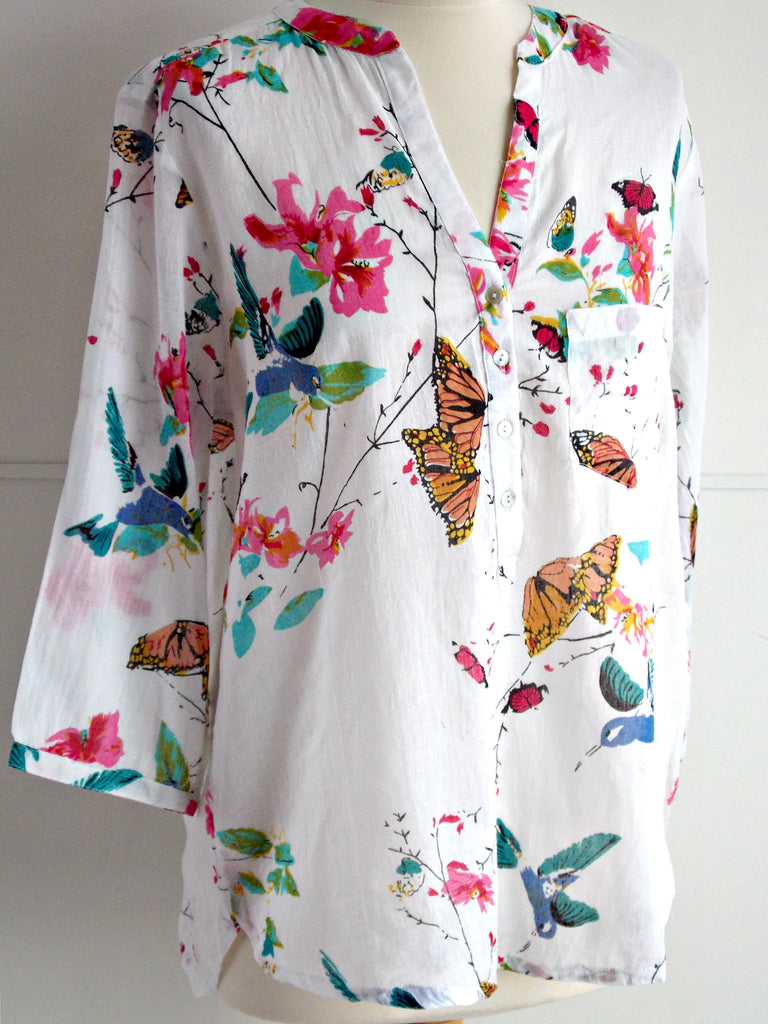 Fauna Top | Butterflies | Cotton | An Indian Summer