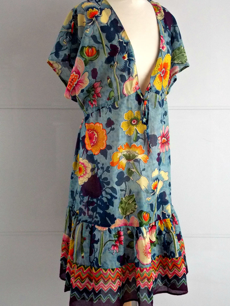 Botanica Dress Cover Up | Blue | Cotton | An Indian Summer