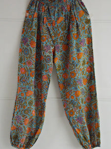 Floral Harem Pants - An Indian Summer