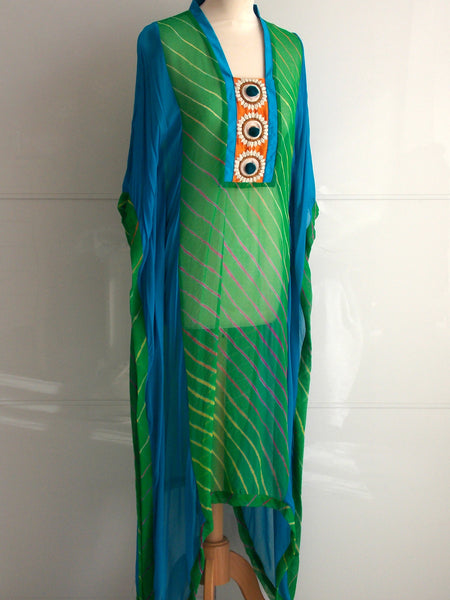 Anaya Kaftan - Green & Turquoise - An Indian Summer