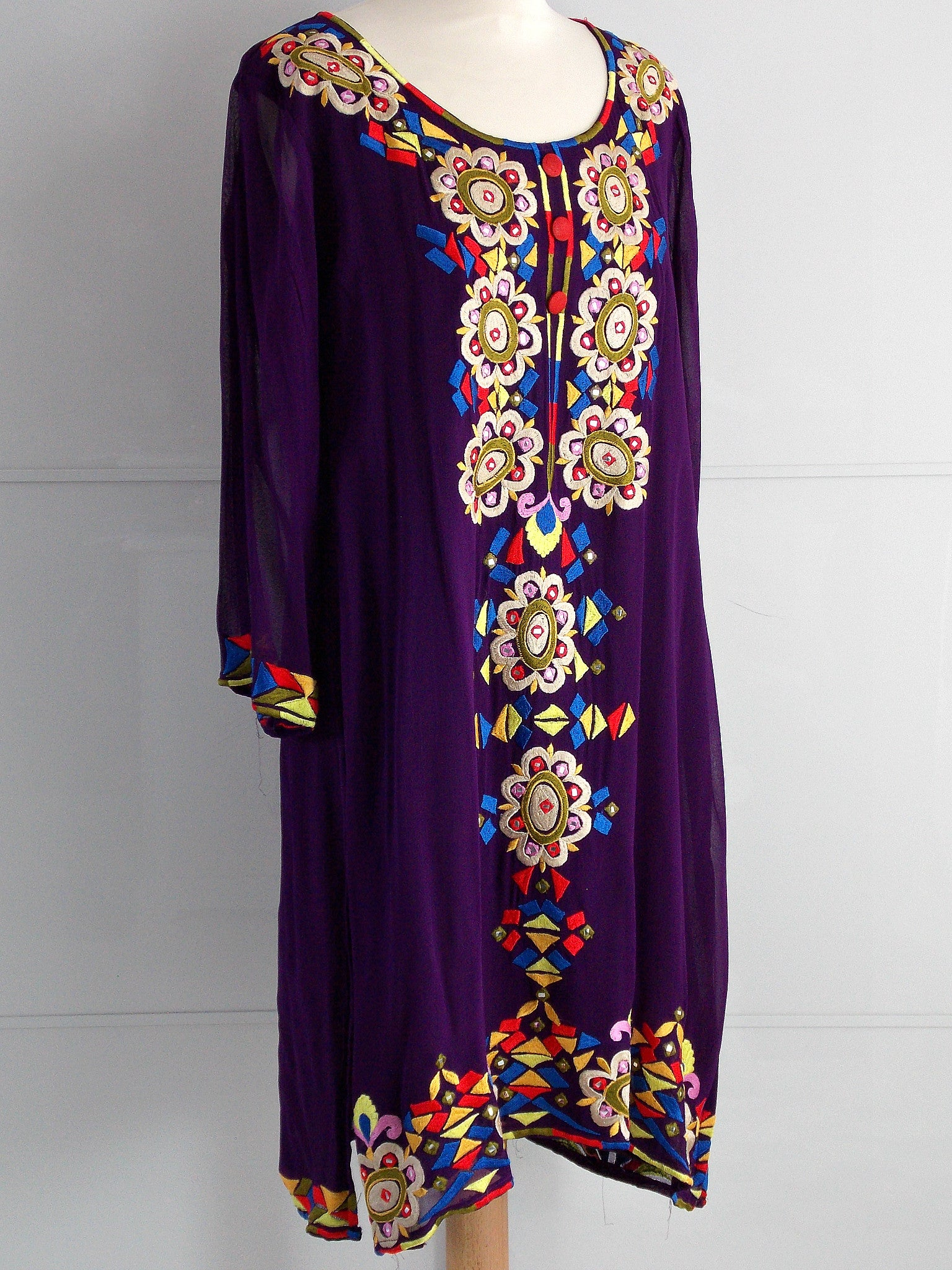 Zoe Dress - Purple - An Indian Summer