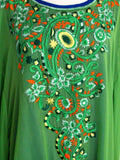 Lyra Embroidered Kaftan - Green & Blue - An Indian Summer