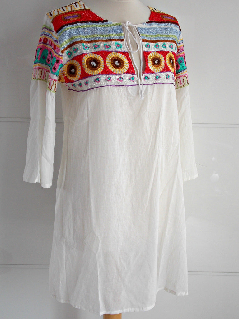 Folk Embroidery Bohemian Tunic | Cotton | An Indian Summer