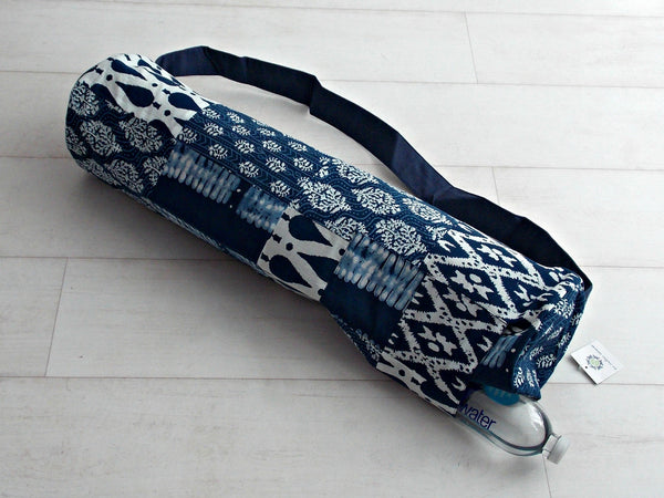 Blue Medley Yoga Bag - Patchwork Squares - An Indian Summer