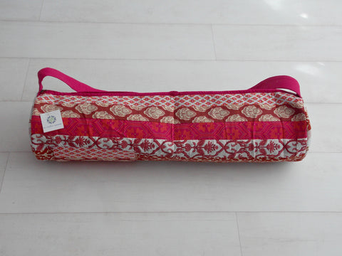 Red Medley Yoga Bag - Patchwork Stripes