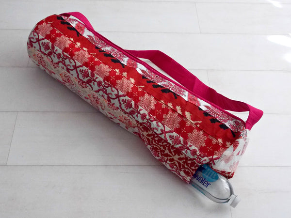 Red Medley Yoga Bag - Patchwork Stripes - An Indian Summer