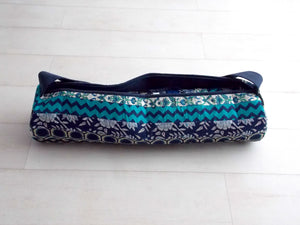 Teal Medley Yoga Bag - Patchwork Stripes - An Indian Summer