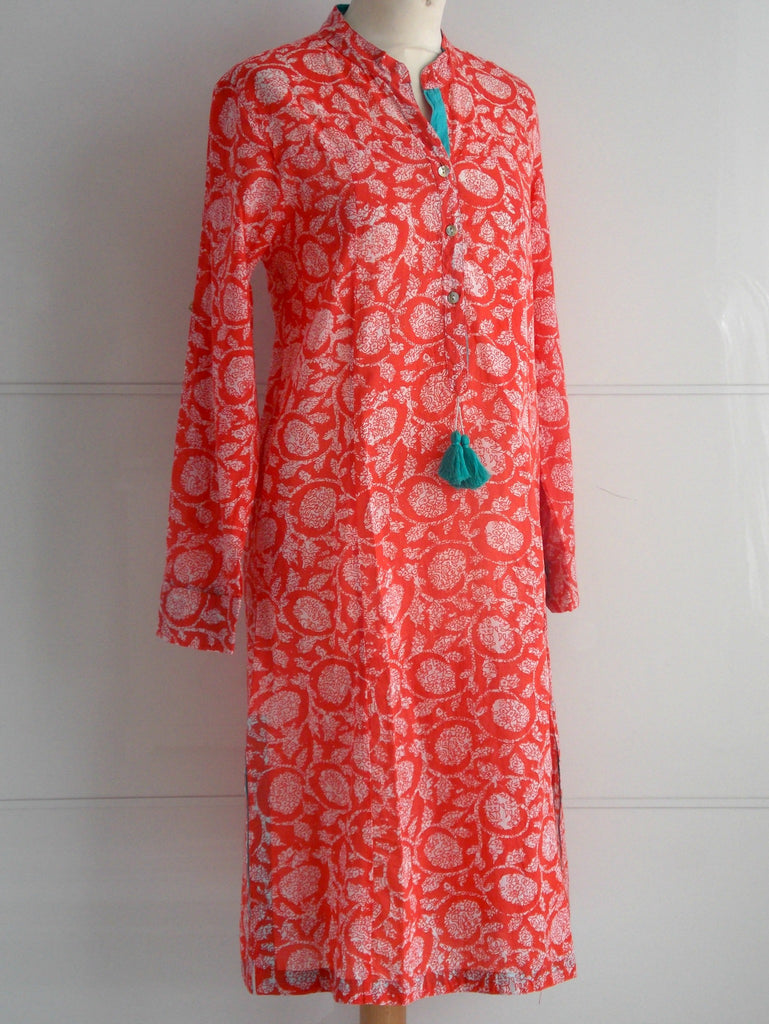 Blossom Tunic Dress - Coral - An Indian Summer