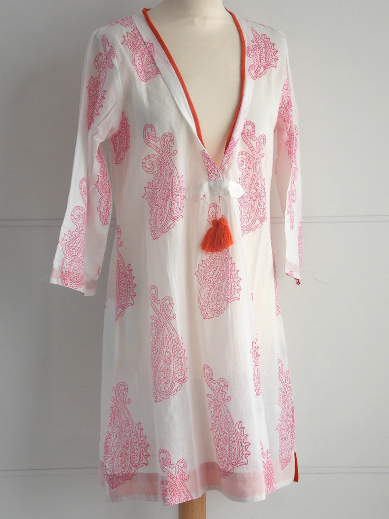 Malibu Coverup - Pink & Orange - An Indian Summer
