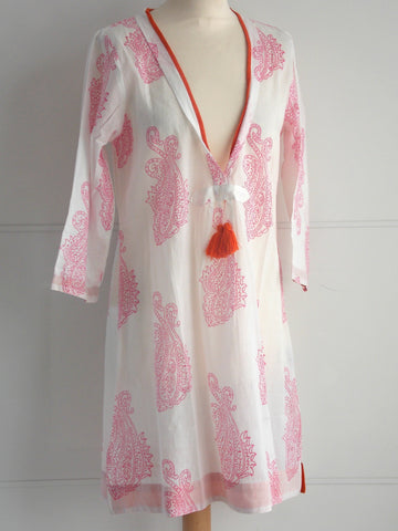 Malibu Coverup - Pink & Orange
