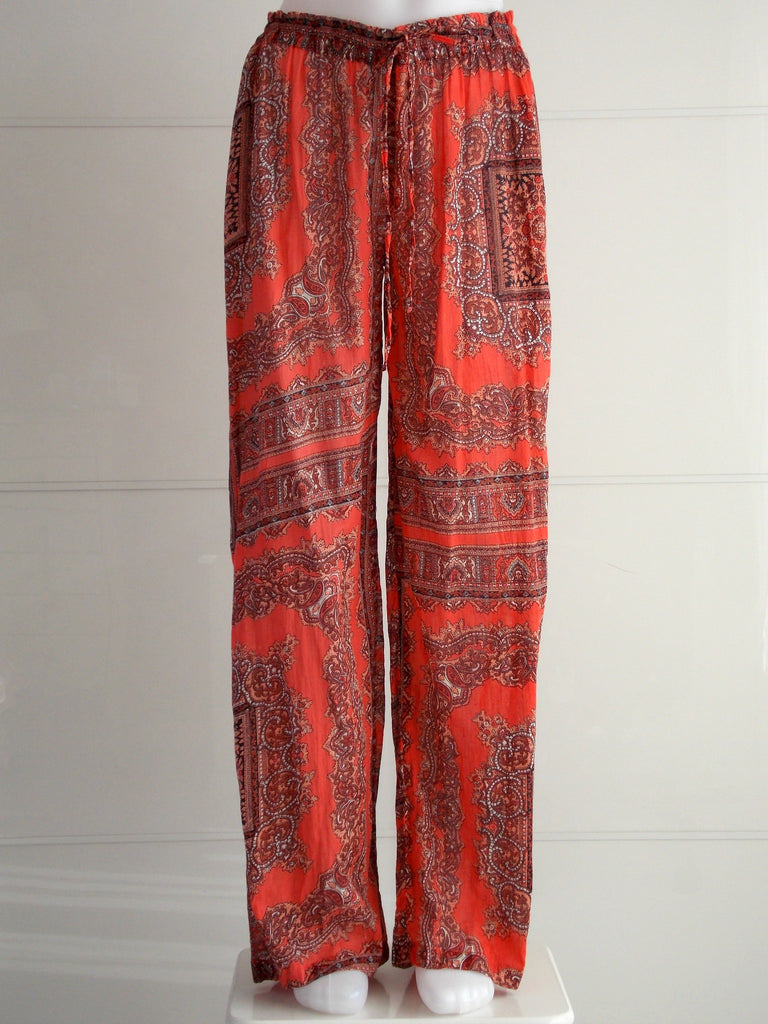 Orange Palazzo Pants - An Indian Summer