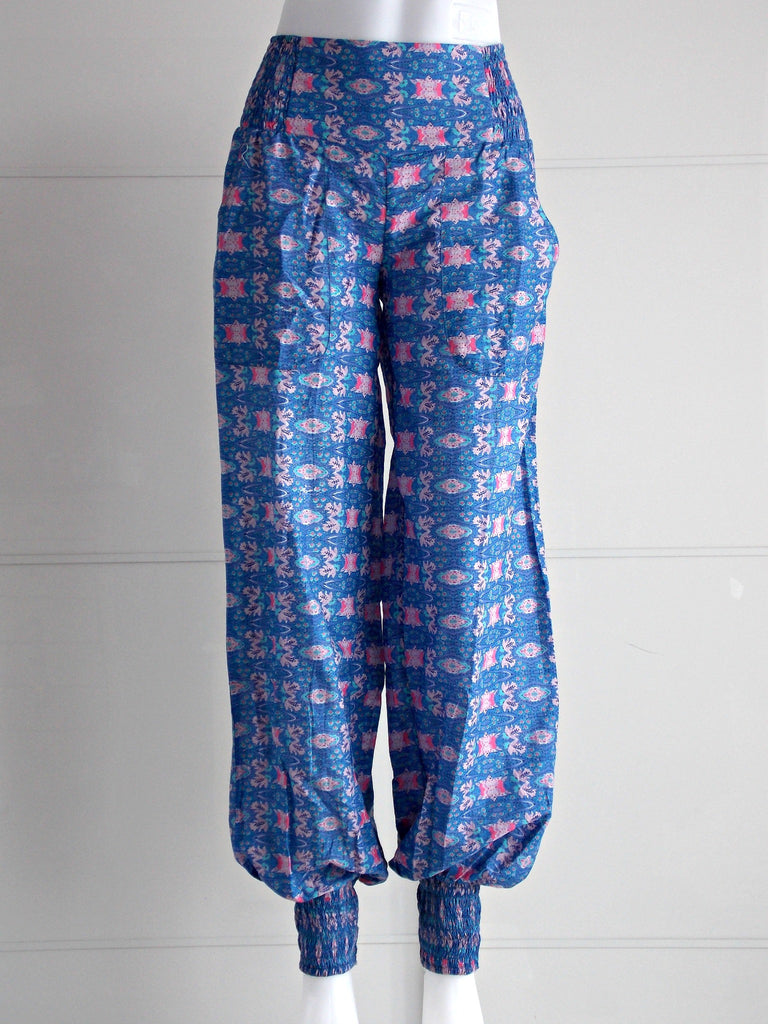 Cosmos Cuffed Pants Blue Purple | Cotton | An Indian Summer