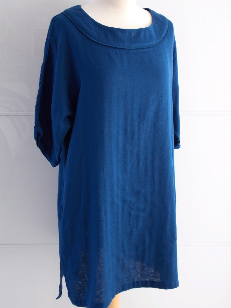 Daphne Tunic Dress - Blue - Cotton - An Indian Summer
