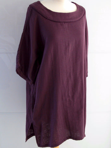 Daphne Tunic Dress - Burgundy