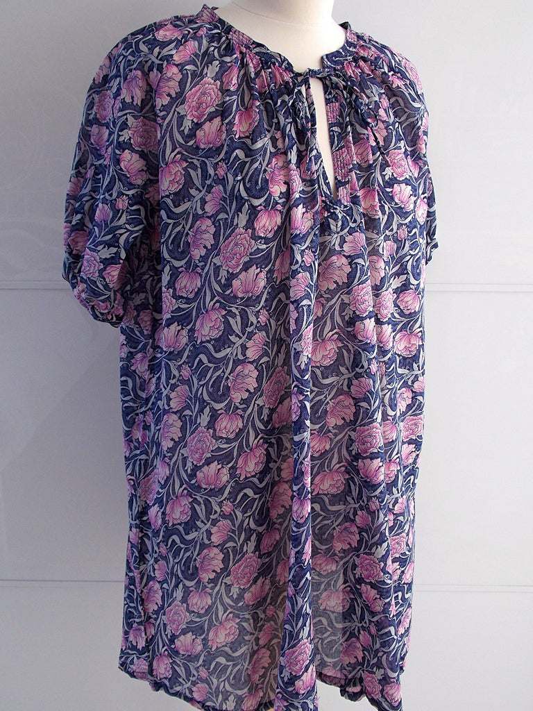 Delphine Smock Tunic - Purple - An Indian Summer