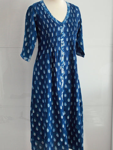Indigo Dyed Dress - Diana