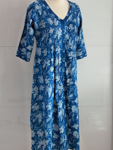 Indigo Dyed Dress - Emma