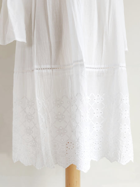 Rhea Off The Shoulder Cut Out Lace White Dress - An Indian Summer