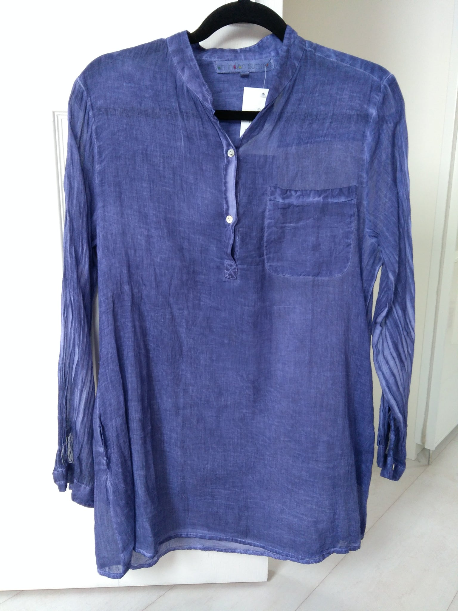 Soft Cotton Shirt - Purple - An Indian Summer