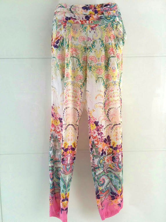 White Floral Trousers - an indian summer - 1