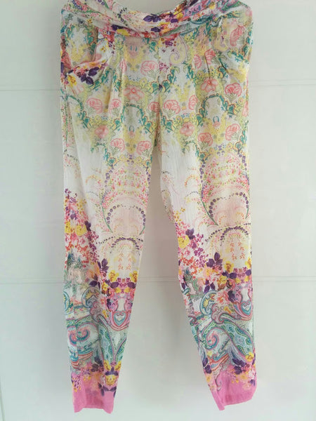 White Floral Trousers - An Indian Summer