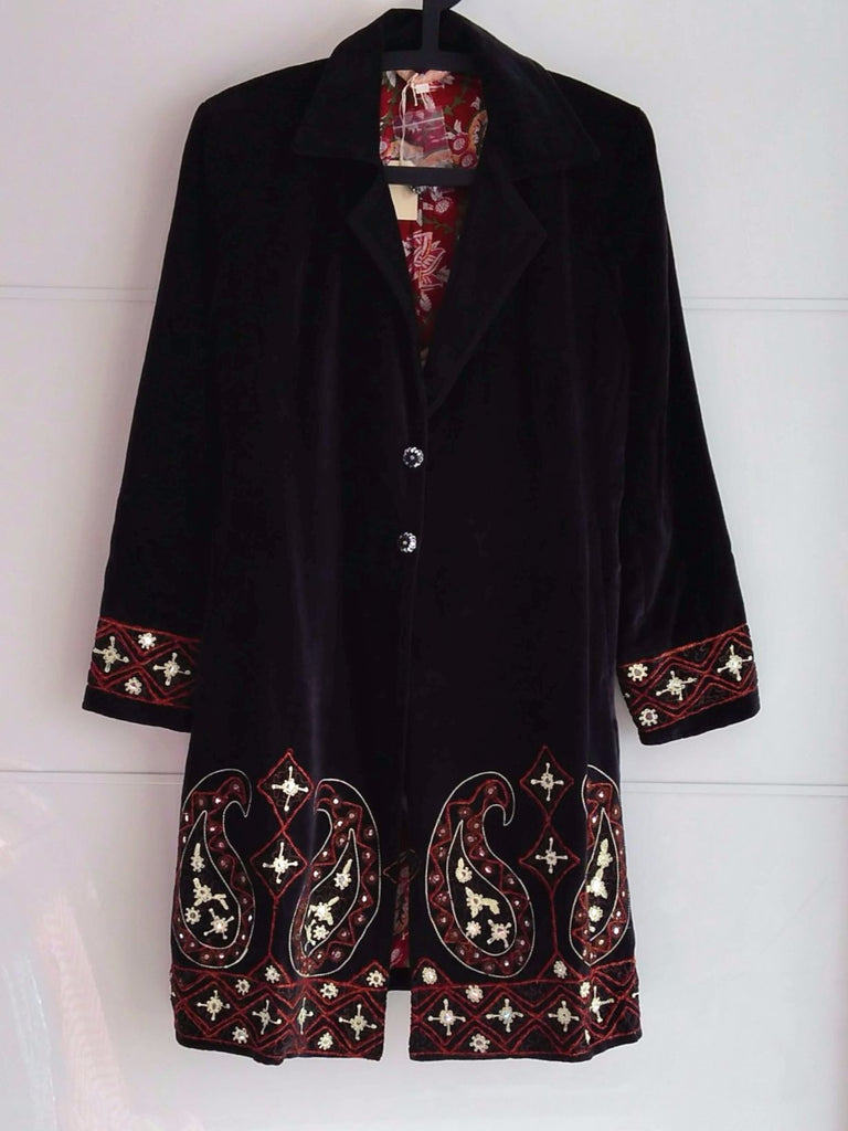 Rani Embroidered Velvet Coat | An Indian Summer