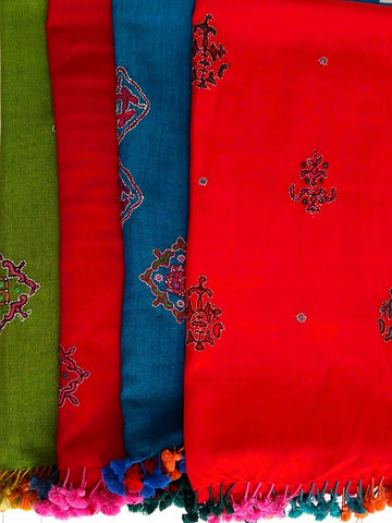 Hand Embroidered Stoles - An Indian Summer