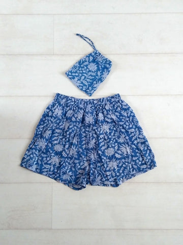 Holly Boxer Shorts - Blue
